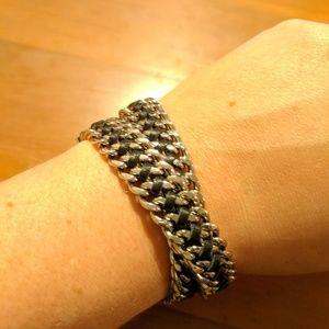 Henri Bendel Convertible Padlock Choker/bracelet